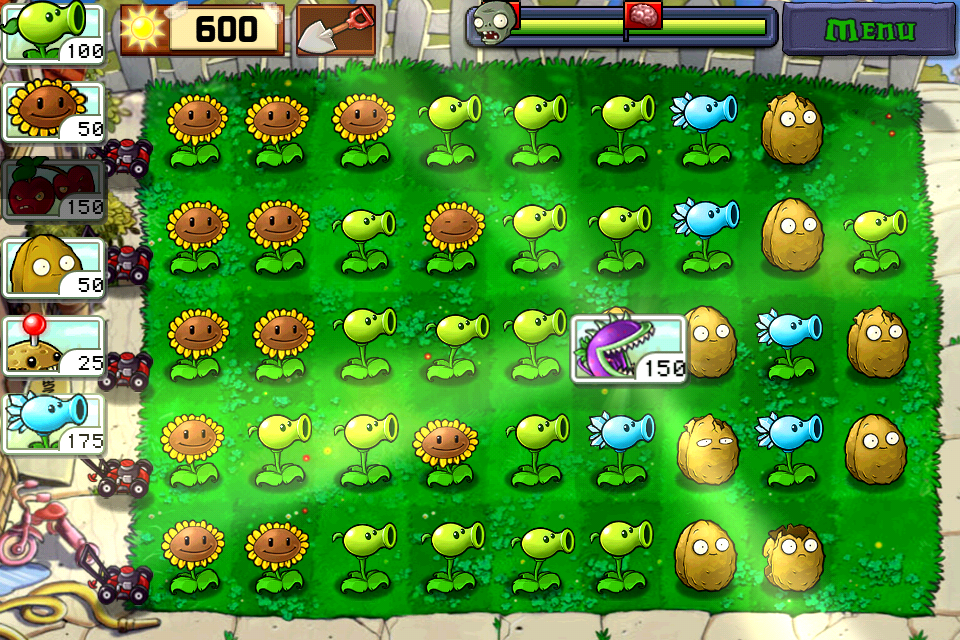 Ios plantes contre zombies geeklette for Plante zombie